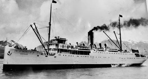 SS North Sea, the ship Arnold went to Alaska on in 1938. Northland Transportation Co. cruise ship.