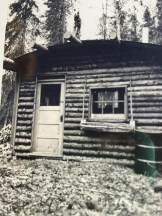 Original homestead cabin built in winter of 1940-1941.