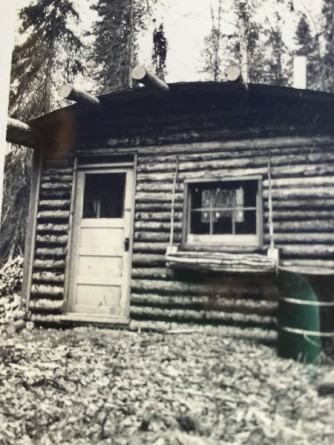 Original homestead cabin built in winter of 1940-1941.
