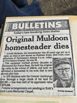 Arnold L. Muldoon, death from complications of Parkinson disease, age 76, announced, 1985.
